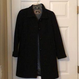 Black lady coat - J Crew